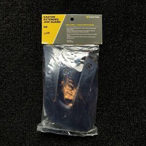 Easton Extended Batting Helmet Jaw Guard LHB Left Hand Bat Navy Blue