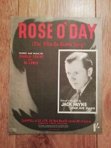 JACK PAYNE * ROSE O' DAY * ORIGINAL SHEET MUSIC