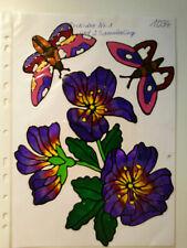 Window Color Fensterbilder Deko Blumen Orchideen Schmetterlinge