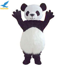 Fluffy Giant Panda Mascot Costume Adult Size Bear Fancy Dress Outfit Party Prop