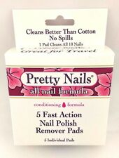 Pretty Nails 5 Fast Action Nails polish Remover Pads *Twin Pack*