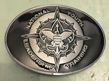 "NATIONAL YOUTH LEADERSHIP TRAINING BELT BUCKLE APPROX. 3 1/4"" X 2 3/8"""