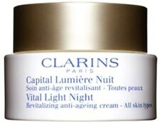 CLARINS VITAL LIGHT NIGHT ALL SKIN TYPES 50ml REVITALIZING ANTI-AGEING CREAM