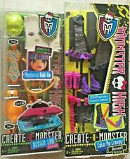 SET OF 2  Monster High Create A Monster Color Me Creepy WEREWOLF AND NOCTURNAL