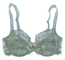 Chantelle 3691 32C Gray Africa Unlined Sheer Mesh Underwire Bra NWT