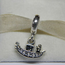 New Authentic Pandora Charm Gondola Venice 791143CZ Bead Tag & Box Included