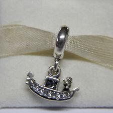 New Authentic Pandora  Charm 791143CZ Gondola Venice Bead Box Included