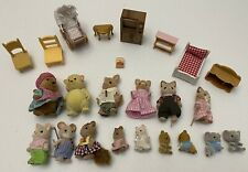 Calico Critters and/or Lil' Woodzeez Dollhouse Animal Figures furniture LOT