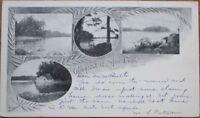 Spot Pond 1905 Postcard, Middlesex Fells Reservation, Massachusetts MA Mass