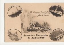 Journees Nationales de Juillet 1929 France Vintage Postcard 387a