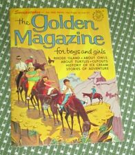 Vintage Golden Magazine August 1966 Paper Dolls Stories Poems