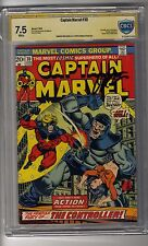 Captain Marvel # 30 CBCS 7.5 White Pages SS Jim Starlin - Thanos app