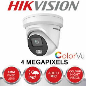 Hikvsion ColorVu DS-2CD2347G1-LU 24h Color Audio Mic Turret IP Camera 2.8mm UK
