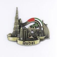 Fridge Magnet Vintage Dubai Tourist Souvenir Gift 3D Metal Collectibles Kitchen