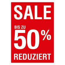 "Plakat ""Sale / Reduziert / 50 Prozent"" DIN A1 AUSVERKAUF SALE % Räumungsverkauf"