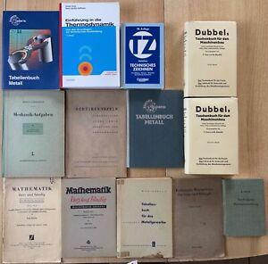 12 Maschinenbau Bücher Formelsammlung Thermodynamik Tabellenbuch etc.