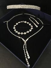 Hochzeit Brautschmuck Schmuckset Diadem Krone Haarschmuck Silber Armband