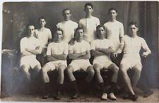 RARE 1918 REAL PHOTO POSTCARD IPSWICH GRAMMAR SCHOOL, ATHLETICS. J A HUNT