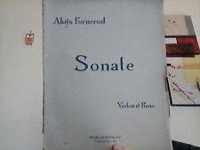 Partitions Violon: Aloÿs Fornerod Sonate violon Piano