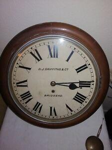 Winterhalder & Hofmeier, Chain Fusee Wall Clock, Signed Griffiths, Bridgend. VGC
