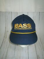 NWOT VINTAGE 80S 90S BASS FISHING BASEBALL HAT CAP ADULT ONE SIZE VTG NEW RARE