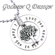 Personalised Stainless Steel Family Name Tree Of Life Valentine Necklace D199