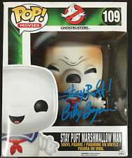 """BILLY BRYAN SIGNED 6"""" STAY PUFT MARSHMELLOW MAN GHOSTBUSTERS FUNKO POP PROOF J6"""