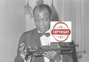 Louis Armstrong in Rome - Original negative  vintage  35 mm