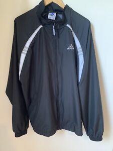 Adidas Men's Windbreaker full zip black size XL Y2K Dad Jacket