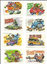 WEIRD WHEELS 1980 TOPPS 55 STICKER AND CARD SET PLUS WRAPPER