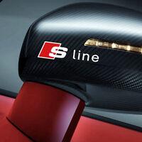 2 S Line Car Quattro Silver Side Mirror Badge Sticker Emblem Universal All Model