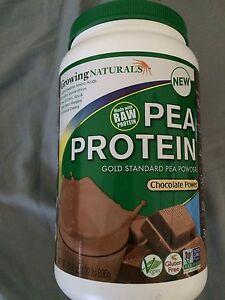 GROWING NATURALS - Pea Protein VEGAN Shake - CHOCOLATE POWER - 31.6 oz!