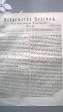 1809 188 Zeitung Spanien Zwiesel Desden Sachsen Stralsund Schweden