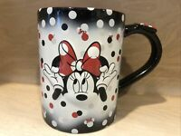 Disney Minnie Mouse Bows & Polka Dots Ceramic 3D Coffee Mug 16oz Mint Condition