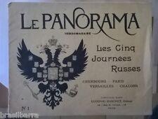 """3 Premiers Numéros de la revue PANORAMA sur """"Les cinq Journées Russes"""" 1896"""