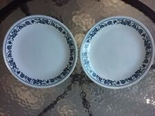 """Vtg Corelle Old Town Blue Onion 8.5"""" Salad Luncheon Plate Set Of 2 Kitchen Dish"""