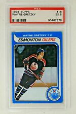 Wayne Gretzky HOF 1979 Topps # 18 Rookie Card PSA 5 EX