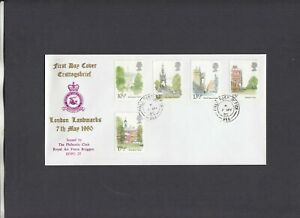 1980 London Scenes RAF Bruggen FDC Forces Post Office 76 CDS 1 of 100 covers