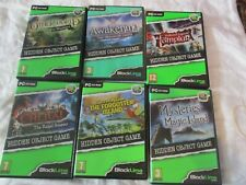 JOB LOT HIDDEN OBJECT GAMES FOR PC - 6 BIG FISH GAMES FROM BLACL LINE