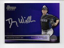 Dan Winkler #/10 2014 Bowman Black Violet Parallel RC Auto #/10 Atlanta Braves