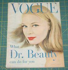 May Vogue 1957 Rare Vintage Vanity Fair Fashion Design Collection Magazine