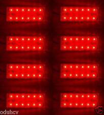 8x Rojo 12 SMD LED Parte Trasera Luces de marcaje Caravana Remolque Camión caja