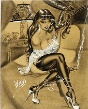Bill Ward Vintage Illustration Art Girl in the Bedroom 14 x 11 Photo Print