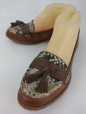 Crown Vintage Wos Shoes Loafers 3278918 US 5.5M Brown Snake Moc Toe Tassels 5719