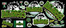 Humbolt Broncos Contour Cut Vinyl Sticker Bundle