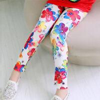 Children Girls Toddler Long Pencil Casual Party Leggings Skinny Printed Trousers
