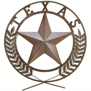 24-inch Texas Lone Star State Metal Wall Art Country Style Wall Plaque Sign