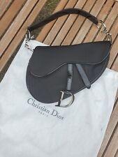 Original DIOR Saddle shoulder Tasche bag / Stoff Lack /fabric and patent leather