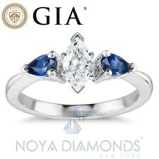 1.08 CARAT E SI2 GIA CERTIFIED MARQUISE CUT DIAMOND ENGAGEMENT RING SET IN 18K