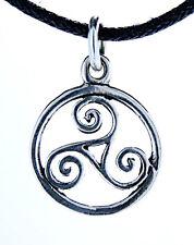 N° 23: petit Triskele Pendentif Argent 925 avec collier Triskel Triskèle Spirale
